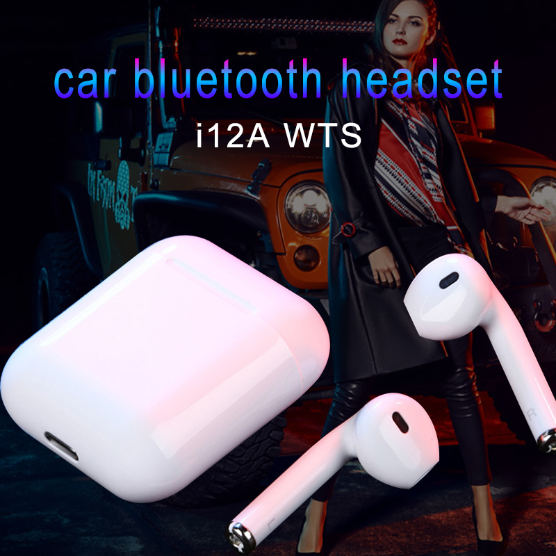I12 tws car Bluetooth hands-free headset kit wireless stereo surround earphones call to answer Car Kit