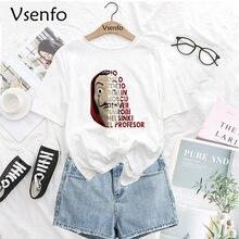 Camiseta De La Casa De Papel para mujer, camiseta Harajuku, camiseta La Casa De Papel Bella Ciao, ropa urbana para mujer