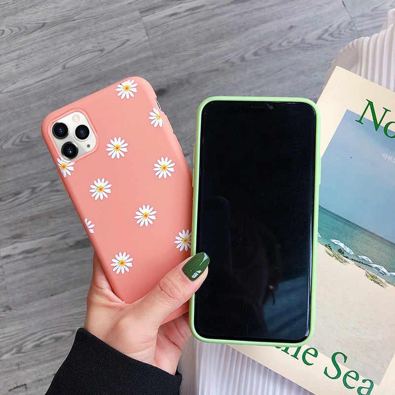Moskado Art ดอกไม้ Daisy สำหรับ iPhone 11 X XR XS MAX 6S 7 8 7Plus 5 แฟชั่น Daisy ดอกไม้นุ่ม TPU COVER