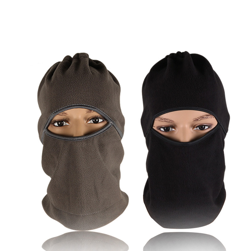 1pc Solid Black Winter Warm Breathable Balaclava Face Mouth Mask Man Women Unisex Outdoor Cycling Mask Black Mask Mouth Cover