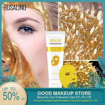 цена на ROSALIN 24K Gold Collagen Mask Anti Aging Whitening Wrinkle Lifting firming to blackheads Smooth Peel Off Masks Skin Care