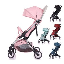 Baby stroller Lightweight stroller Baby cart Portable Baby  trolley  baby car multicolor One key operation