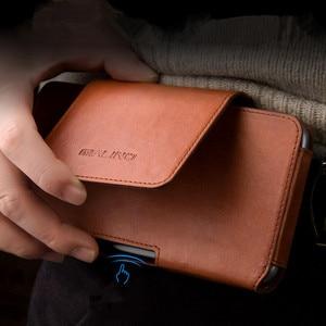 Для iPhone 11 Pro Max чехол для телефона из натуральной кожи Зажим для ремня кожаный чехол для талии чехол s для iPhone XS Чехлы для Max XR