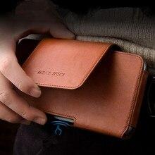 آيفون 11 برو ماكس جلد طبيعي الهاتف الحقيبة حزام كليب الجلود حقيبة غطاء الخصر الحقيبة حالات آيفون XS ماكس XR حالات