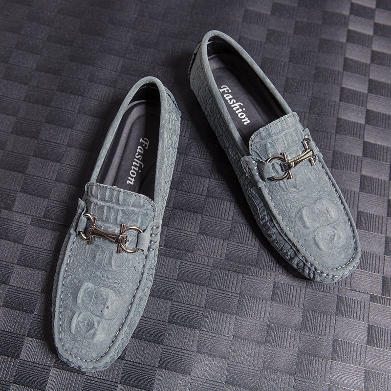 Cheap New Luxury Loafers For Men Handmade Leather Sneakers Men Slip On Mens Casual Shoes Black Blue Drive Men Shoes Rubber Flats Shoes