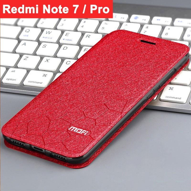 case for xiaomi redmi note 7 cover redmi note 7pro flip case mofi leather book stand