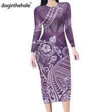 Doginthehole женское элегантное платье карандаш с длинным рукавом