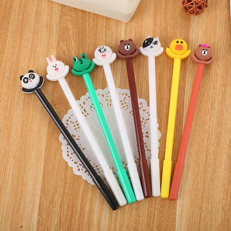 Licorne Gel stylos Kawaii papeterie 0.5mm Gel stylo nouveauté dessin animé mignon stylo étudiant noir Signature stylo papeterie fournitures scolaires