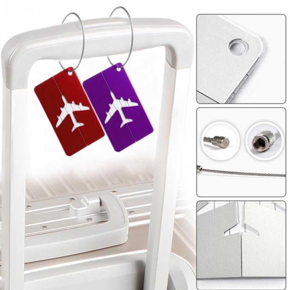 アルミ合金荷物タグ手荷物名札 Ptgirl スーツケース住所ラベルホルダー 2019 到着旅行アクセサリーファッションバッグ