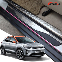 Car Sticker Accessories For Kia Stonic Door Sill Strip Cover Plates Stainless Steel Protectors Guards Auto Styling 2017 2019