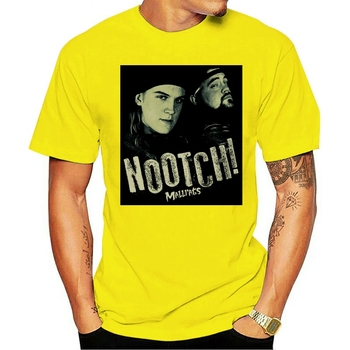 2021 Leisure Fashion 100% cotton O-neck T-shirt Mallrats Movie NOOTCH! Picture Mall Rats Licensed Adult All Sizes(3) image