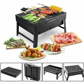 Mini Pocket BBQ Grill Portable Stainless Steel Folding Barbecue Accessories for Home Park Use New Arrival