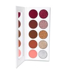 OEM Private Label neutral eyeshadow palette glitter matte shimmer pigment eye makeup custom