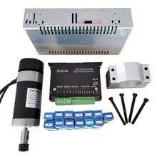 48v 500W ER11 Brushless Spindle+57MM Clamp with Screws+ 48V Brushless Motor Driver+48VDC 10.5A Power Supply