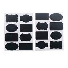 16 pièces multifonction organisateur de cuisine nouvelles étiquettes tableau noir autocollant artisanat étiquettes de tableau