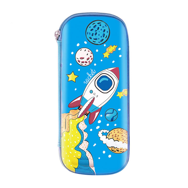 Cartoon Children Pencil Case EVA Waterproof Large Capacity Kids School Student Pen Stationery Box Make Up Cosmetic Storage Bag