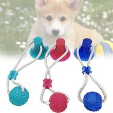 Suction cup dog push toy Interactive fun Pet toy with ball Pet Tooth Cleaning/Chewing/Playing dog ball toy magideal horse toy game ball with apple scent pet joy fun horse stable and yard toy