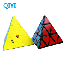 QiYi Qiming 3x3x3 Magic Pyramid Cube Speed Cubes Professional Stickerless 3x3 Puzzle Cube Education Toys For kids Gift
