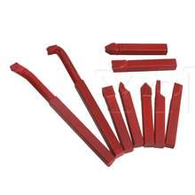 9 x Красный Железный твердосплавный токарный станок с пайкой, токарный инструмент с насадкой из сплава YG8 8x8 мм