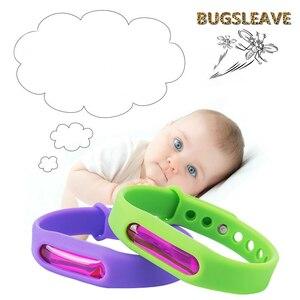 Image 4 - 5Pcs Kleurrijke Milieubescherming Siliconen Polsband Zomer Muggen Armband Anti Muggen Band Christmas Gift X
