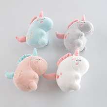 Cute Unicorn Plush Toy Soft Filled Animal Doll Keychain Bag Pendant 12CM