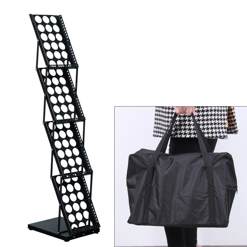 A4 folding exhibition materials stand on display rack single color page picture album propaganda book magazine rack