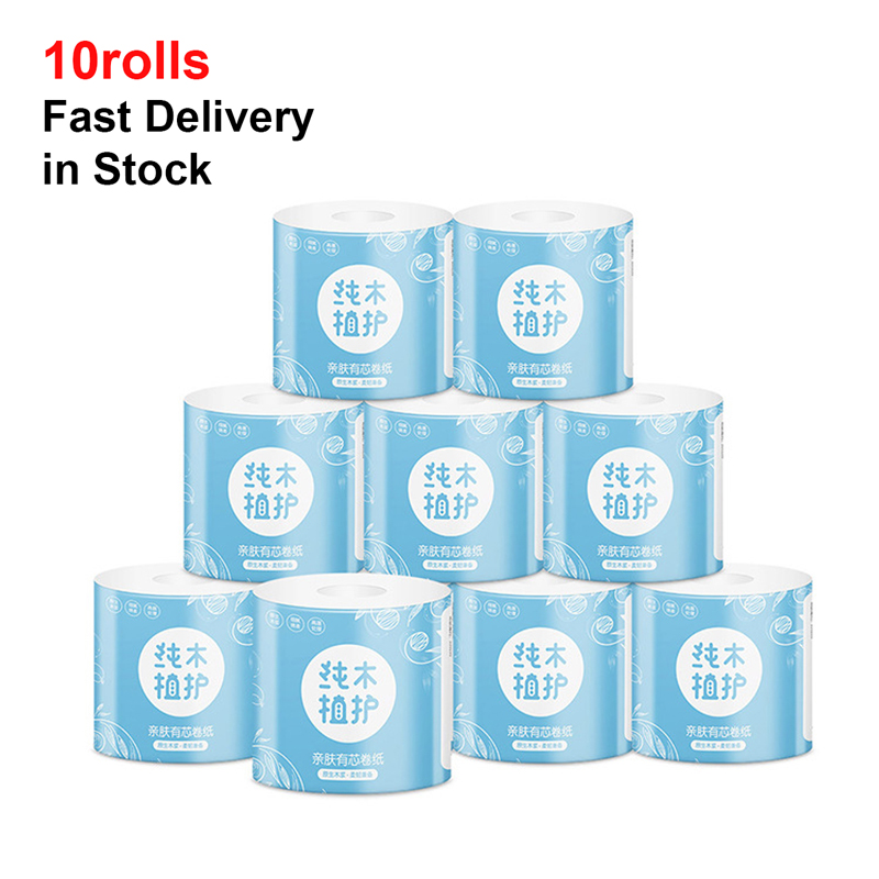 Ultra-Soft White Toilet Paper Strong And Highly Absorbent Hand Towels For Daily Use 10 Rolls Home Kitchen Toilet Tissue