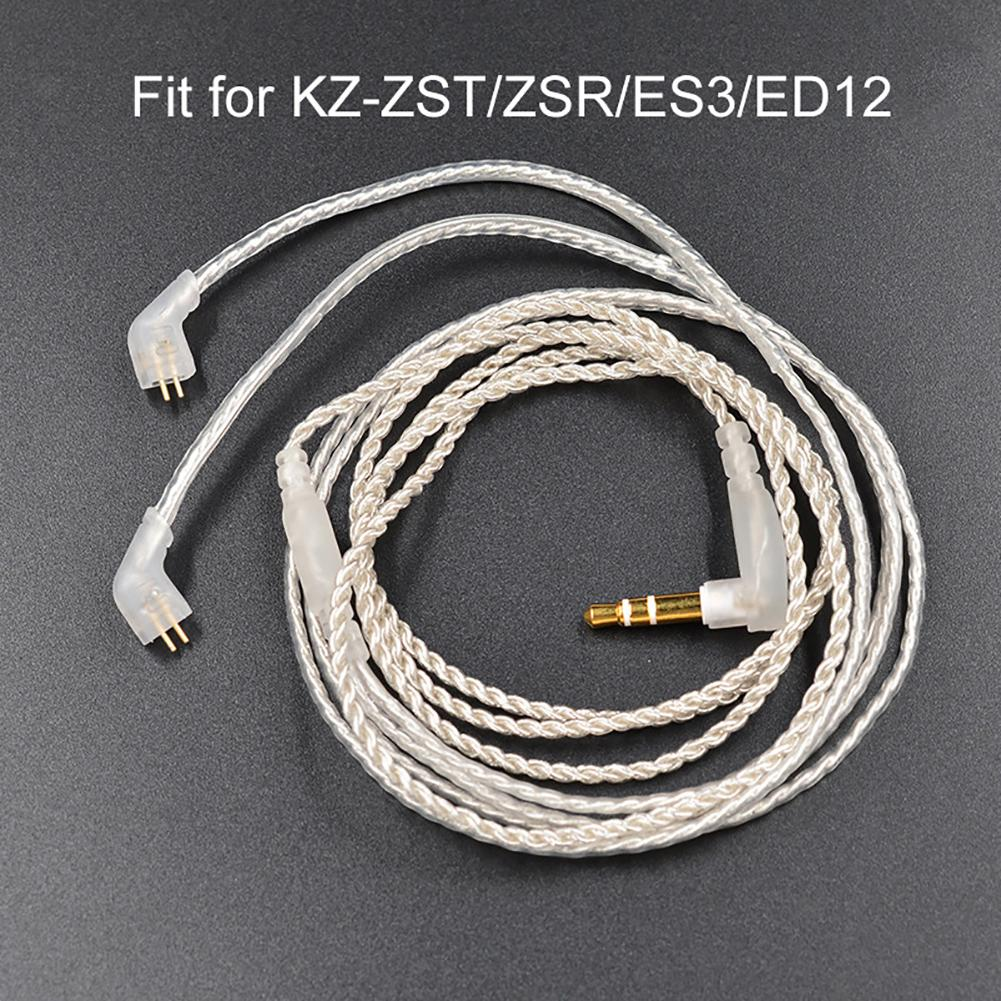 New Arrival 1.2m Replacement 2.5mm TRRS <font><b>0.75mm</b></font> <font><b>2Pin</b></font> Earphone <font><b>Cable</b></font> for KZ-ZST/ED12/ES3/zSR image