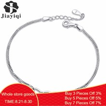 Jiayiqi 2018 Hot New Silver color Jewelry Crystal Zircon Bracelet Heart Shape Bracelets for Women Fashion Friendship Bracelets(China)