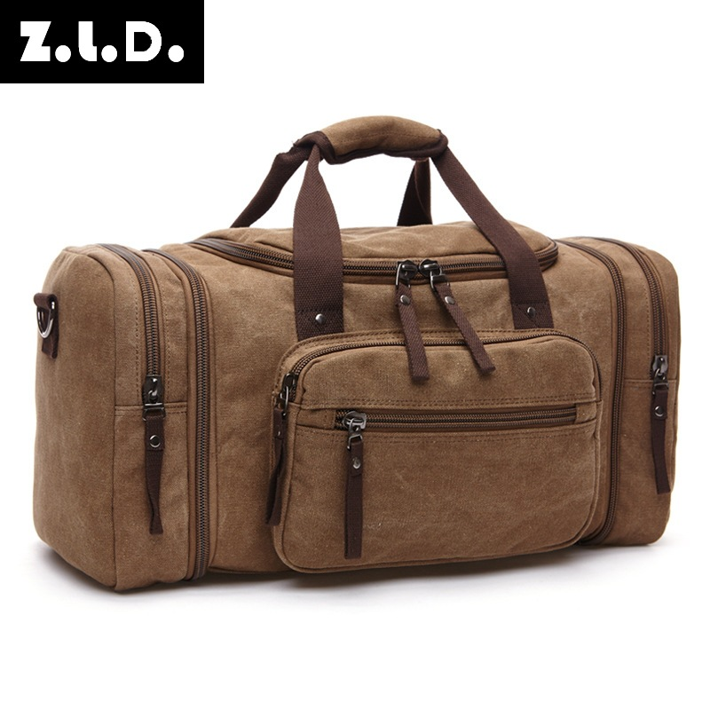 Cross-border New Style Fashion Outdoor Travel Bag Hand Canvas Shoulder Backpack Stylish Large Capacity Casual Shoulder Bag