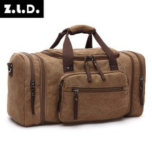 New style fashion outdoor travel bag hand canvas shoulder ba