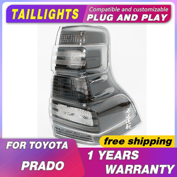 Car Toyota Prado Taillights 2013-2017 LC150 DRL Tail Lights Led Fog Lights DRL Day Running Light Tuning Car Accessories