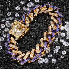 Gold Silver Color Miami Cuban Link Chains Hip Hop Jewelry Iced Out Bracelet for Men Women Punk Rapper Party Gift цены