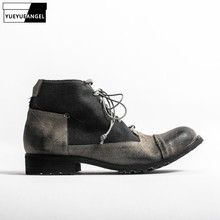 Brand Vintage Casual Cowhide Shoes Men British Style Work Sa