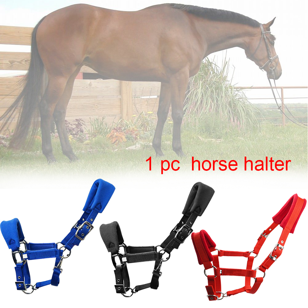 Riding Equipment Detachable Thicken Multiple Sizes Fleece Padded Sports Adjustable Strap Double Layered Horse Halter
