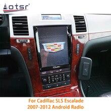 Autoradio do rádio do carro de android 10.0 px6 6 + 128gb para a navegação de gps dos multimédios de carplay dsp do tela táctil de cadillac escalade 2007 2012