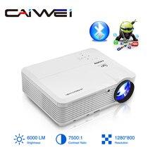 Caiwei a7/a7ab android projetor 1080p hd cheio de cinema em casa led proyector para suporte 4k portátil móvel wifi vídeo tv beamer