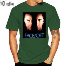 Лицо/снятие Николаса Кейдж Джон Траволта? Новая мужская футболка, черная одежда 6-A-399