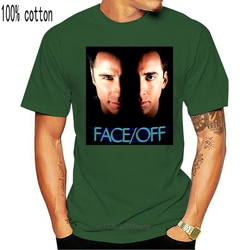 Face/Off Nicolas Cage John Travolta? New Men T-Shirt Black Clothing 6-A-399