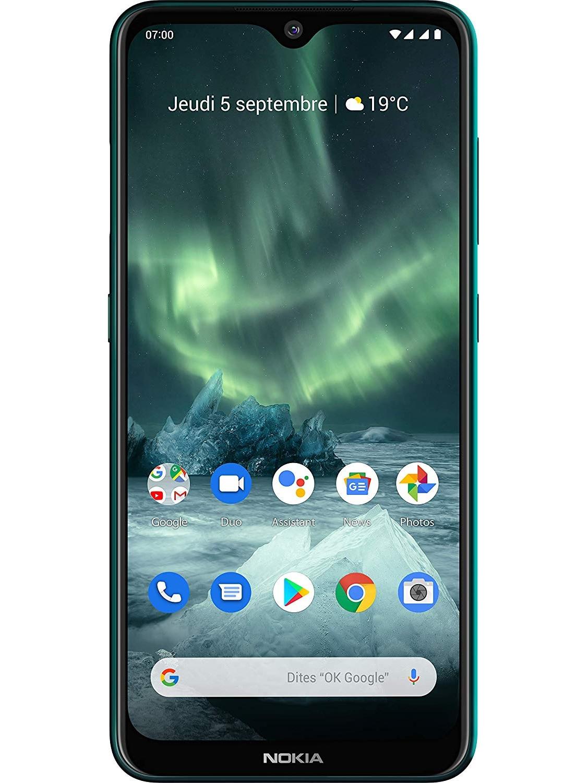 Phone <font><b>Nokia</b></font> 7.2, Green Color Cyan (Cyan Green), 128 GB of Internal Memory 6 GB RAM, Dual SIM, FHD Screen + 6