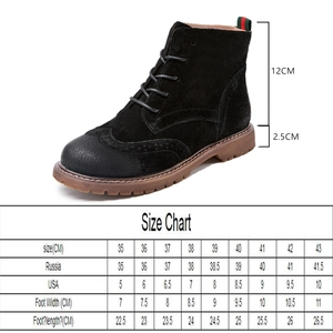 Image 2 - women shoes 2020 spring genuine leather Female short boots  suede women booties  British lace retro trend women naked boots