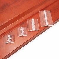 10 pçs 25x33 30x33 38x45 65x42 dobradiças plásticas dobráveis dobradiças de plexiglass transparentes dobradiça durável acrílico claro