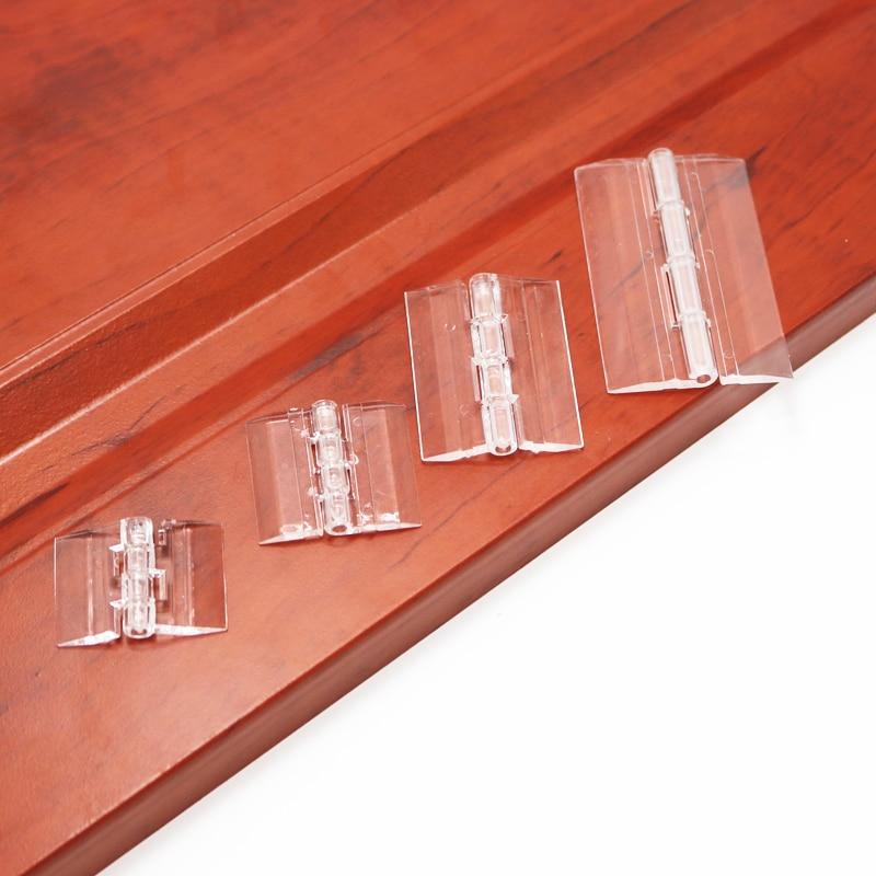 10Pcs 25X33 30X33 38X45 65x42 Plastic Folding Hinges Transparent Plexiglass Hinge Durable Clear Acrylic