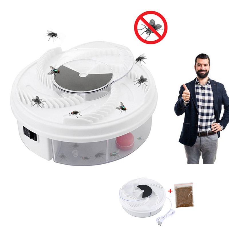 Effective Electric Fly Trap Pest Device Insect Catcher Automatic Flycatcher Fly Trap Catching Artifacts Insect Trap Usb Plug