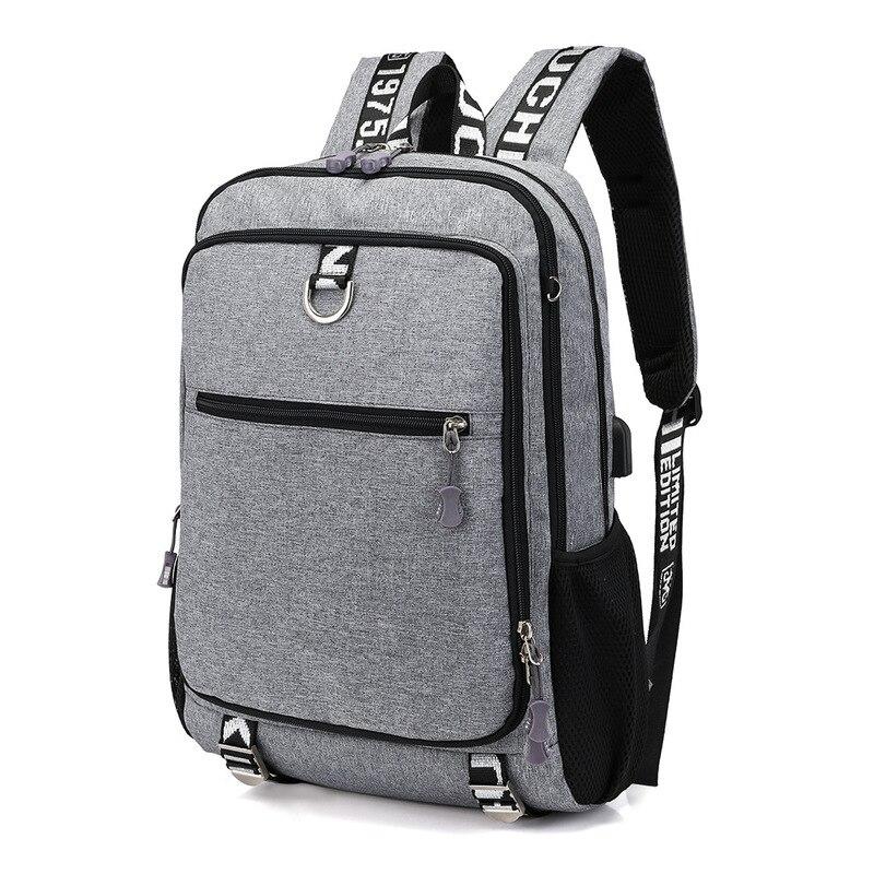 Nouveau sac à bandoulière de masse USB chargé sac à dos de voyage pour hommes un substitut pour les étudiants du collège sac de sport de loisirs