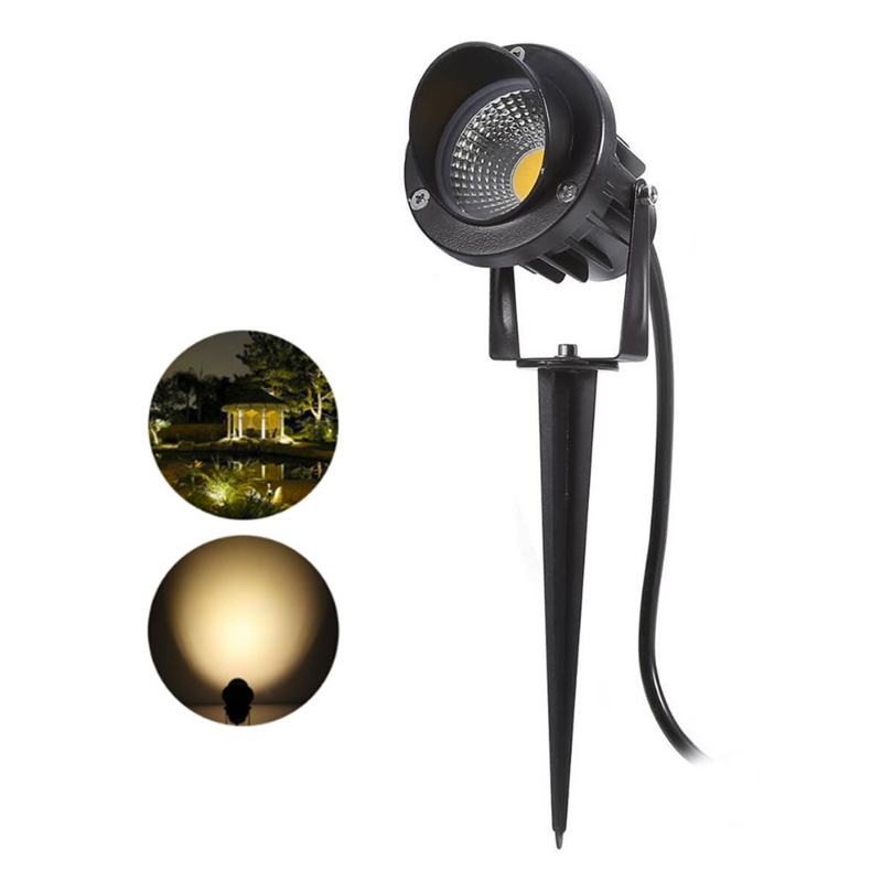 LED COB Garden Lawn Lamp Light 220V 110V DC12V Outdoor LED Spike Light 3W 5W 7W 10W 12W Path Landscape Waterproof Spot Bulbs