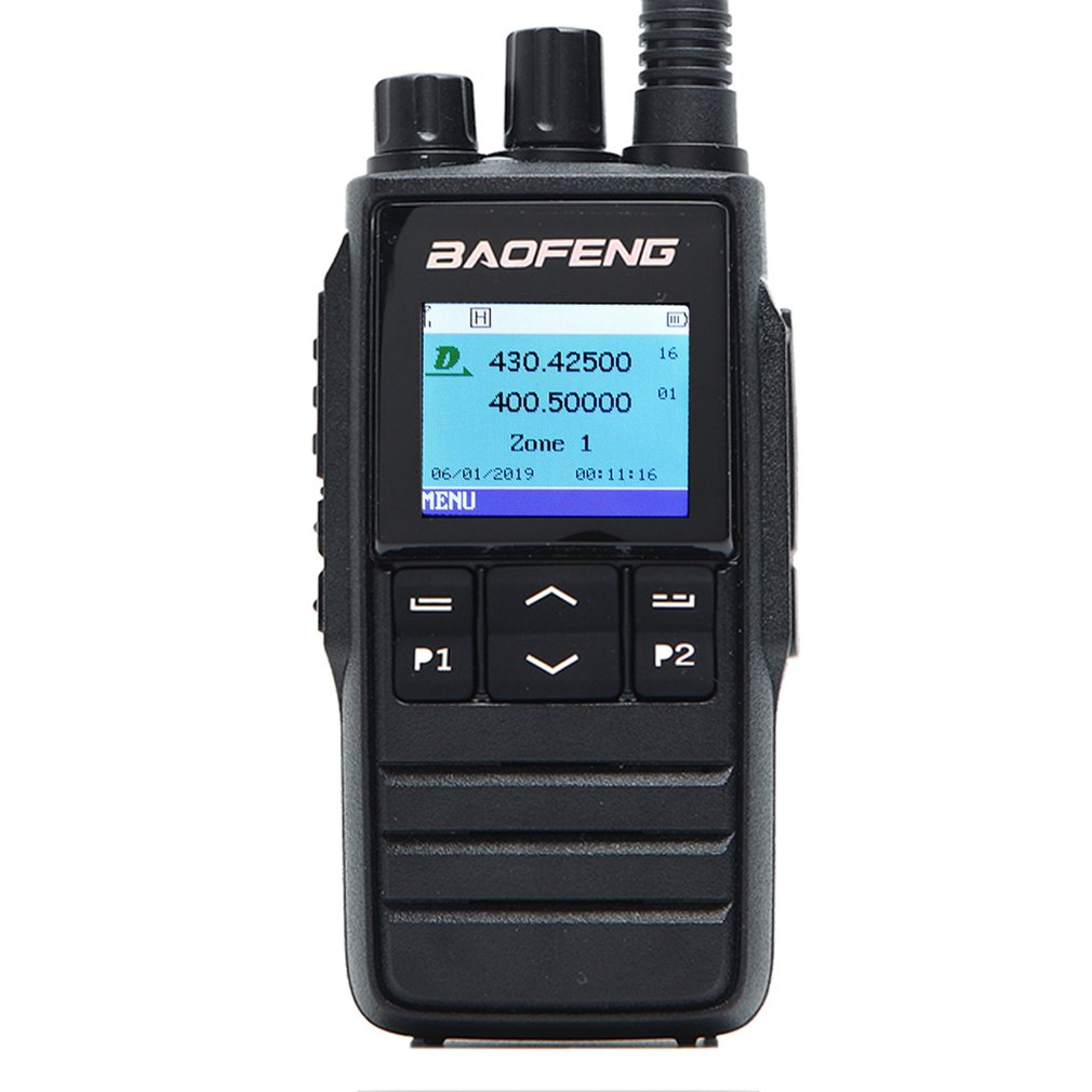 Handheld DM-1703 DMR Walkie Talkie VHF UHF Dual Band 136-174 & 400-470MHz Dual Time Slot Tier 1&2 Digital Radio