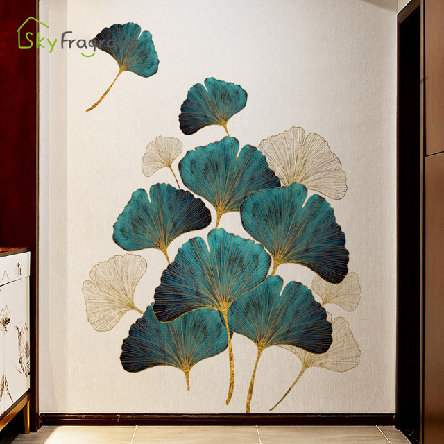 Fresh Leaves Wall Sticker Mural 10