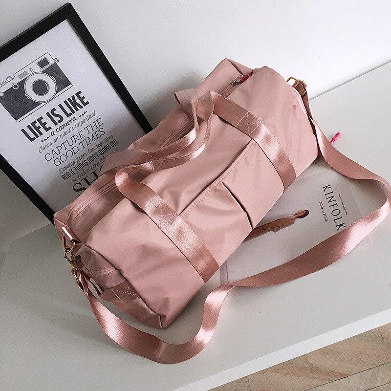 Новая вместительная сумка-тоут для женщин, водонепроницаемый нейлоновый саквояж на плечо, Женский органайзер для одежды и обуви, дорожная с...