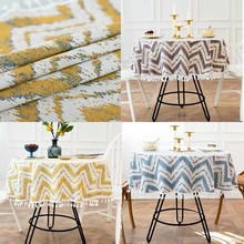 Wedding Mariage Round Decoration Table Cover Tablecloth Home Garden Geometric Dining Table Linen Hotel Banquet